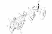 Плуг трехкорпусный навесной ПНВБ 3‒35 с регулируемой шириной захвата