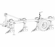 Плуг четырехкорпусный навесной ПНВБ 4‒35 с регулируемой шириной захвата