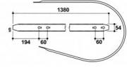 Направляющие пружин подборщика, пресс-подборщик  International 420, 422, 430, 440, 435, 445
